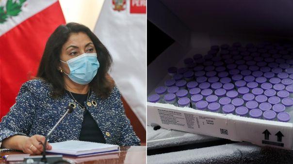 Violeta Bermúdez dio detalle de la llegada de las vacunas.
