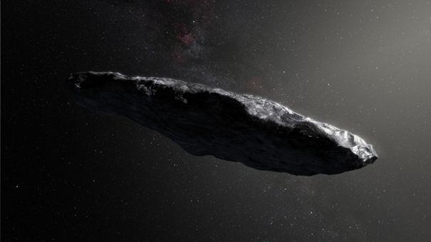 Ilustración de 'Oumuamua.