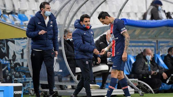 Ángel Di María se lesionó en el duelo ante Marsella por la Ligue 1