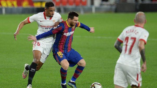 Barcelona cayó 2-0 ante Sevilla por la ida de 'semis' de la Copa del Rey