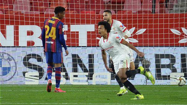 Sevilla derrotó 2-0 a Barcelona en la ida de semifinales de la Copa del Rey