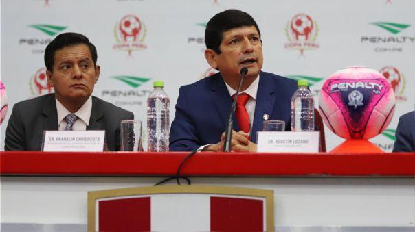 Agustín Lozano, presidente de la Federación Peruana de Fútbol