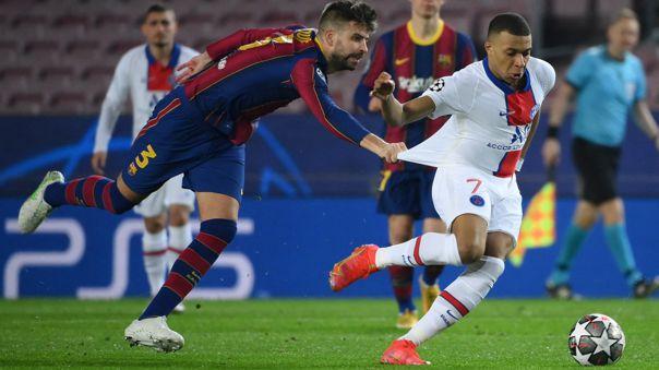 Kylian Mbappé figura en el duelo ante Barcelona