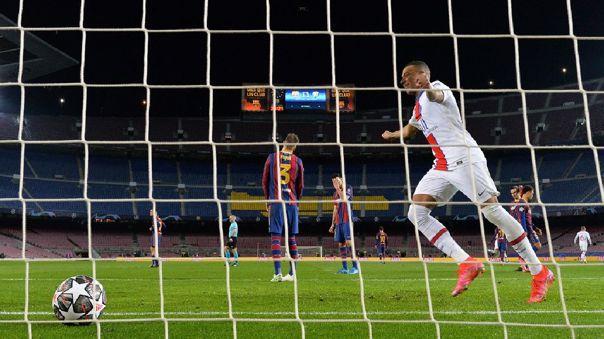 PSG venció a Barcelona en la ida de octavos de final de la Champions League