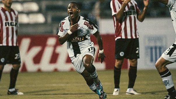 Wilmer Aguirre en su épica jornada ante Estudiantes por la Copa Libertadores