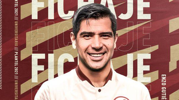 Enzo Gutiérrez nuevo jugador de la 'U'