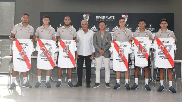 River Plate presentó sus seis refuerzos de la temporada