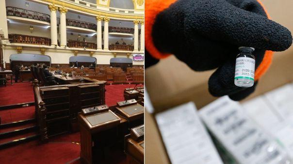Congreso aprobó pedido para conocer si los parlamentarios se vacunaron.