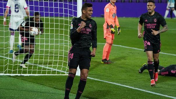 Real Madrid venció a Valladolid con gol de Casemiro