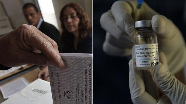 Ministro de Salud se refirió a la vacunación de miembros de mesa.