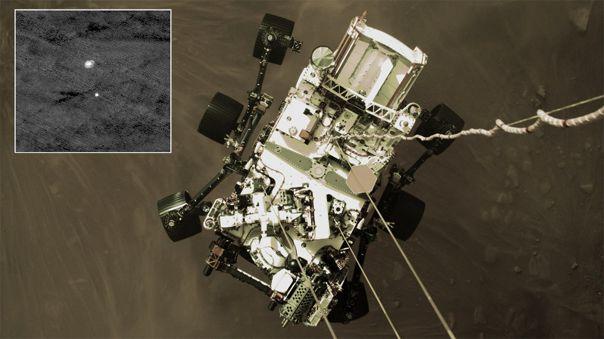 HiRISE muestra otra perspectiva del amartizaje de Perseverance.