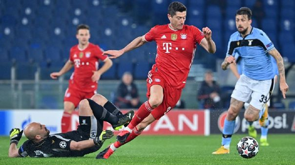 Bayern Munich goleó 4-1 a Lazio en la ida de octavos de final de la Champions