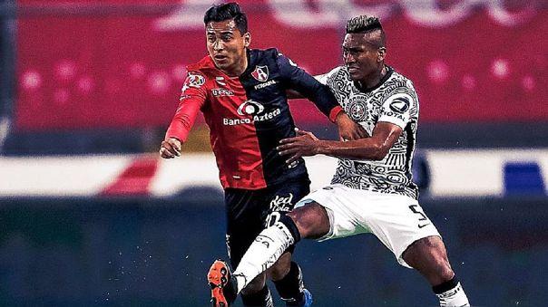 Pedro Aquino jugó todo el cotejo ante Atlas por la Liga MX 2021