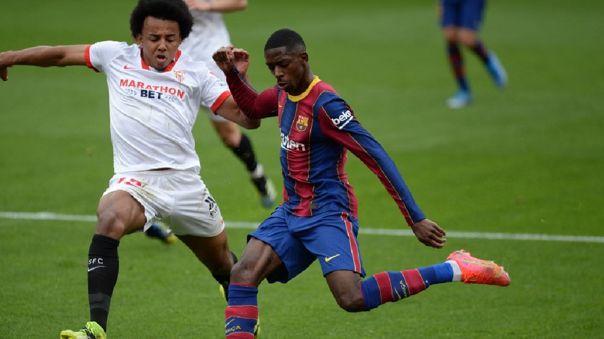 Ousmane Dembelé anotó el 1-0 de Barcelona ante Sevilla