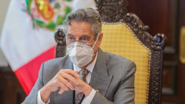 Francisco Sagasti se refirió al proceso de vacunación en el Perú