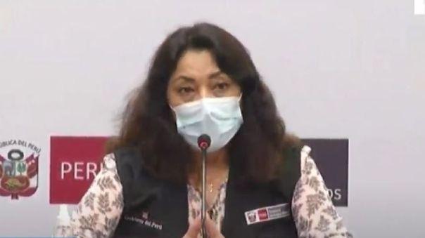 Violeta Bermúdez brinda conferencia de prensa.
