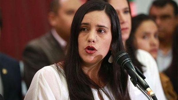 Verónika Mendoza, candidata presidencial de Juntos por el Perú.