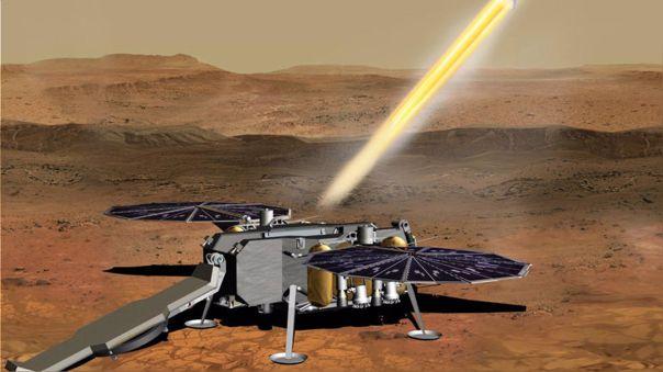 Esta ilustración muestra un concepto de cómo el Vehículo de Ascenso a Marte de la NASA.