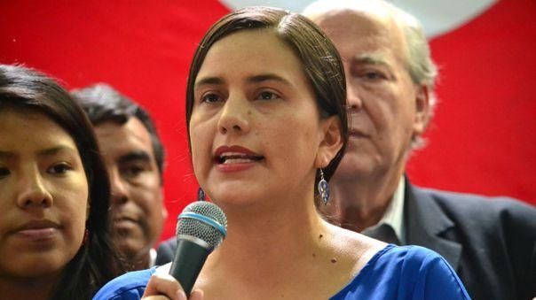 Verónika Mendoza, candidata de Juntos por el Perú.