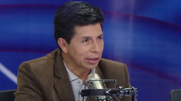 Candidato presidencial de Perú Libre, Pedro Castillo.