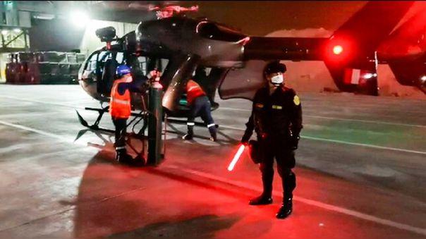 Fueron dos las unidades aéreas de la PNP que transportaron 20 cilindros