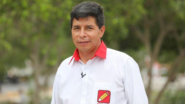 Pedro Castillo, candidato a la Presidencia de la República por Perú Libre.
