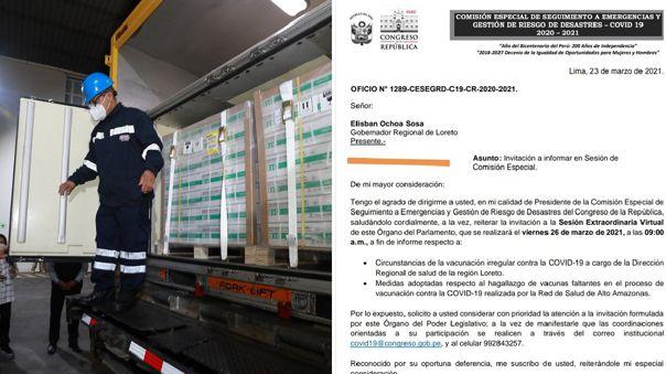 Congreso cita a funcionarios por escándalo de vacunación en Loreto.