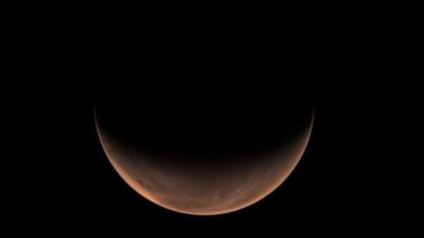 Tianwen 1 toma imágenes laterales de Marte.