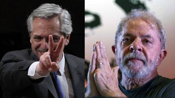 Lula desea a Fernández