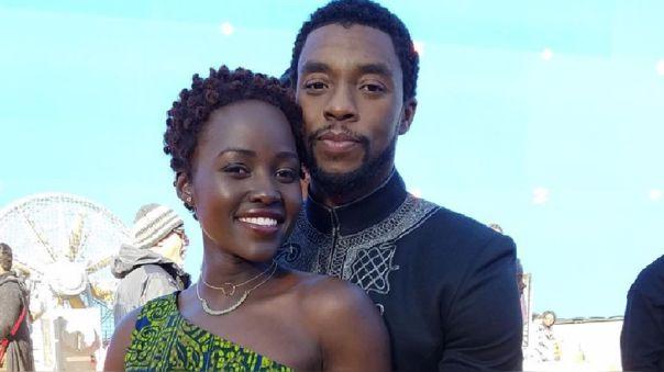 Lupita Nyong'o y Chadwick Boseman