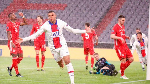 Kylian Mbappé anotó el 1-0 ante Bayern Munich