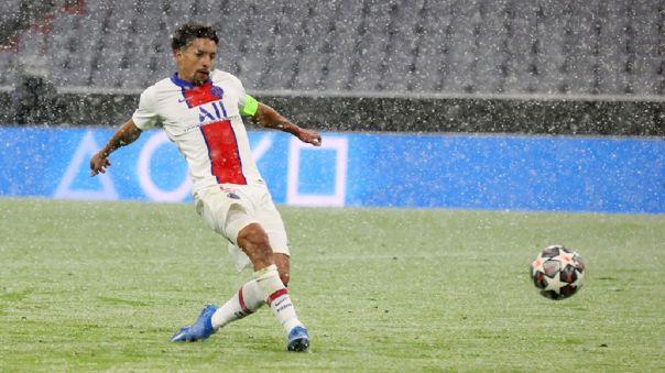 Marquinhos no tuvo problemas para anotar en el Bayern Munich vs. PSG.