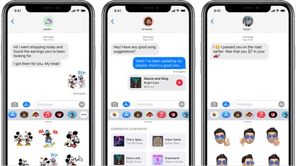 La plataforma iMessage es una característica de los productos Apple.
