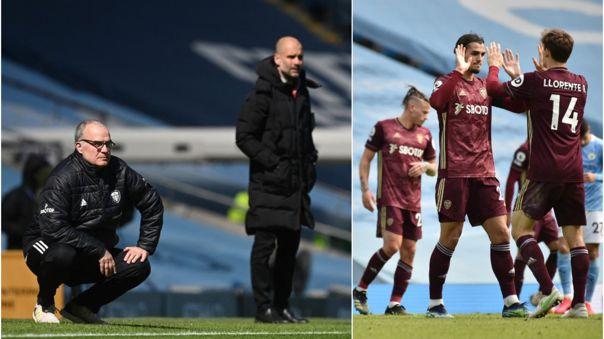Leeds United venció 2-1 a Manchester City por la Premier League