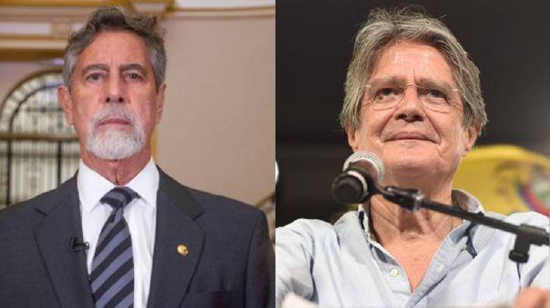 Francisco Sagasti felicitó este lunes al candidato centroderechista Guillermo Lasso