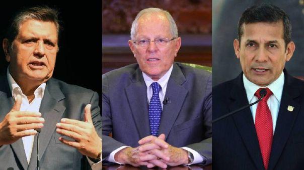 Alan García, Pedro Pablo Kuczynski y Ollanta Humala.
