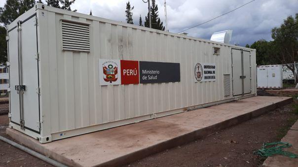 Planta móvil de oxígeno en Cusco