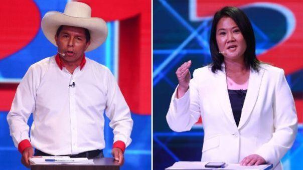 Los candidatos Pedro Castillo y Keiko Fujimori pasaron al balotaje con 19% y 13% de votos válidos, respectivamente.