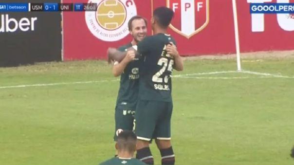 Hernán Novick remató y marcó un gol en el Universitario vs. San Martín.