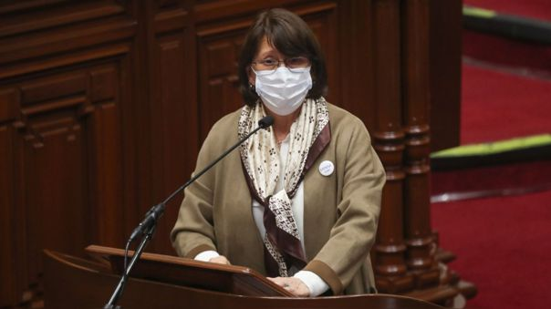 Pilar Mazzetti se presentó de manera virtual ante el Congreso.