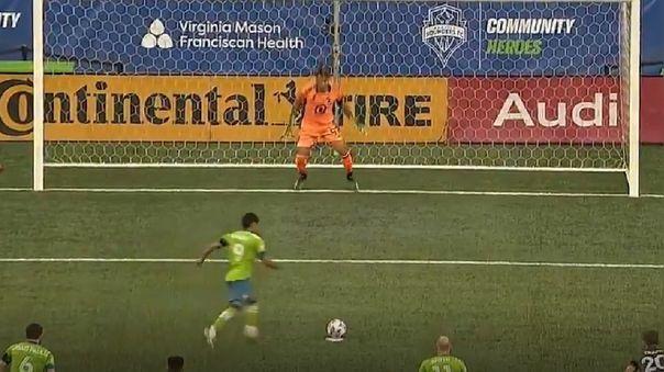 El penal que falló Raúl Ruidíaz en primera jornada de la MLS.