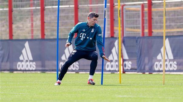 Bayern Munich: Robert Lewandowski vuelve a entrenar con balón después de su lesión