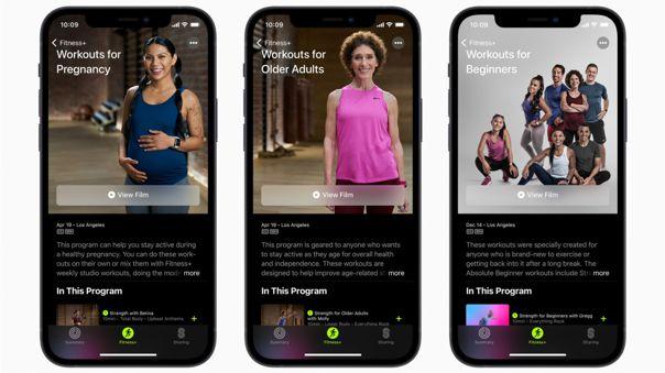 Novedades en Apple Fitness+.