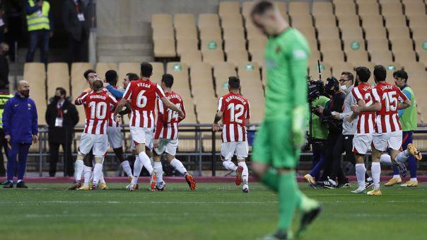 Athletic venció a Barcelona en la final de la Supercopa de España