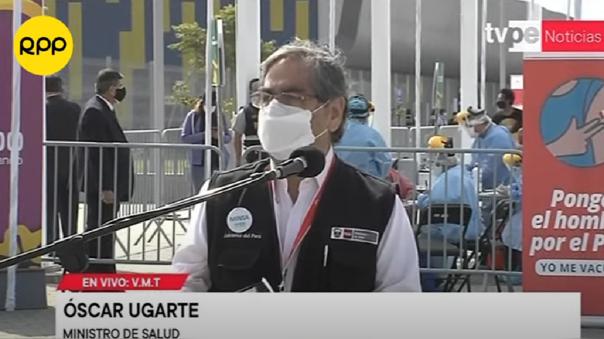 Ministro de Salud, Óscar Ugarte.