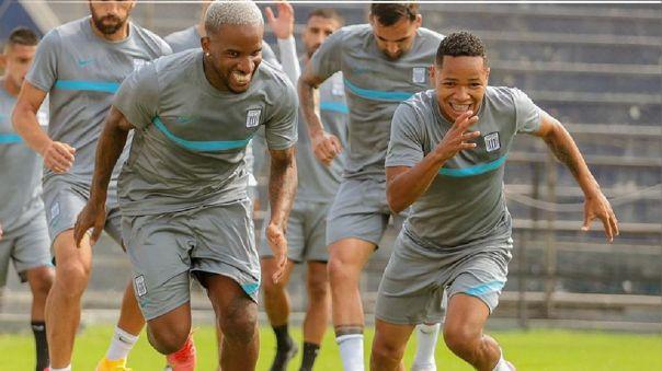 Farfán y Cornejo en los entrenamientos de Alianza Lima