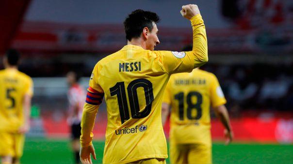 Lionel Messi ganó su sétima Copa del Rey