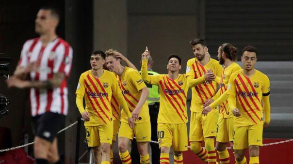 Barcelona obtuvo la Copa del Rey al vencer sin problemas al Athletic Club.