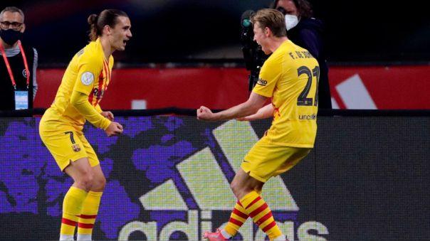 Frenkie De Jong convirtió el 2-0 de Barcelona en la final de la Copa