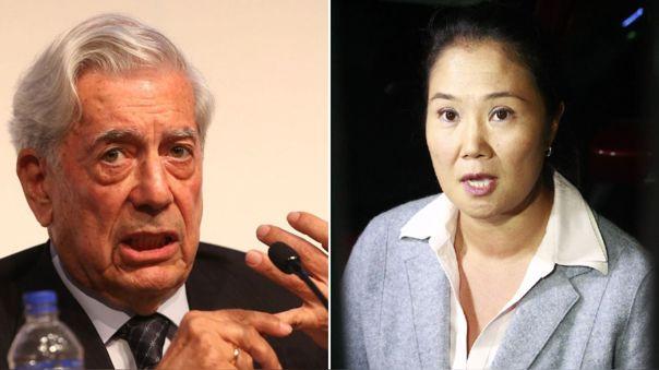 Mario Vargas Llosa respaldó la candidatura de Keiko Fujimori.